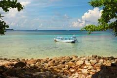 Lengkuas wyspa w Belitung, Indonezja Obrazy Stock