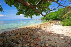 Lengkuas wyspa w Belitung, Indonezja Zdjęcia Stock