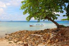 Lengkuas wyspa w Belitung, Indonezja Fotografia Royalty Free