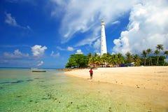 Lengkuas wyspa w Belitung, Indonezja Fotografia Stock