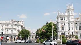 Lengte van het Stadhuis van Madrid stock footage