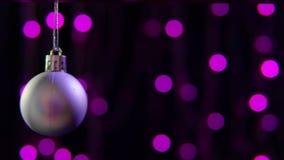 Lengte van Kerstmis van de decoratiebal Kerstmisdag stock video