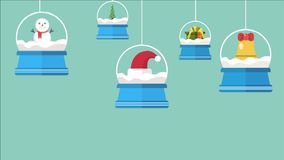 Lengte van Kerstmis en Nieuwjaar stock illustratie