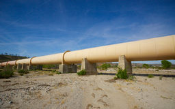 Length of Los Angeles Aqueduct Stock Photo