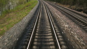 The length of the railway track stock video