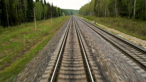 The length of the railway track stock video footage