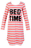 Length striped nightshirt royalty free stock image