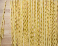 Lengths Pasta on Wooden Board Stock Image