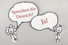 Lengua alemana de discurso Imágenes de archivo libres de regalías