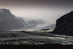 Lengua del glaciar Fotos de archivo libres de regalías