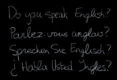 Lengua inglesa Fotografía de archivo libre de regalías
