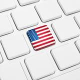 Lengua inglesa del concepto del web de los Estados Unidos de América o de los E.E.U.U. Na Foto de archivo