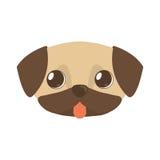 lengua linda del marrón del perrito hacia fuera Imagen de archivo libre de regalías