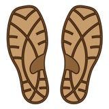 Lenguado de goma del zapato de Brown Foto de archivo libre de regalías