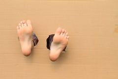 Lenguados de pies desnudos fotografía de archivo