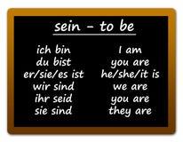 Lenguaje alemán Foto de archivo