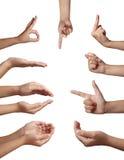 Lenguaje corporal del gesto de mano Imagen de archivo libre de regalías