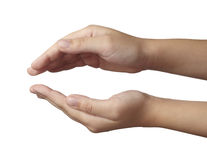 Lenguaje corporal del gesto de mano Fotos de archivo