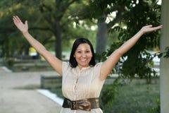 Lenguaje corporal feliz y de la alegría 2 Foto de archivo