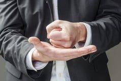 Lenguaje corporal para la colocación corporativa Imagen de archivo