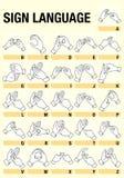 Lenguaje de signos Fotografía de archivo libre de regalías