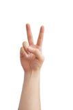 Lenguaje de signos de la mano Foto de archivo