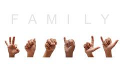 Lenguaje de signos del americano de la familia foto de archivo libre de regalías