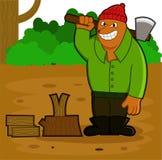 Lenhador Bear no trabalho ilustração royalty free