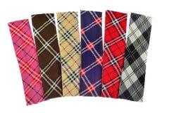 Lenhador Plaid e testes padrões da verificação do búfalo Testes padrões vermelhos, pretos, brancos e caqui da manta, da tartã e d fotos de stock