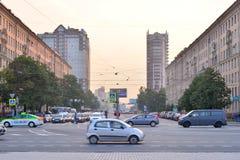 Lenin-Allee in St Petersburg Lizenzfreie Stockfotos
