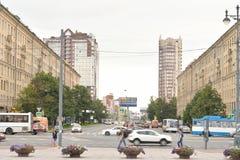 Lenin-Allee in St Petersburg Lizenzfreie Stockbilder