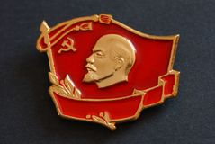 Lenin badge Stock Image