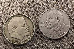 Lenin coins Royalty Free Stock Images