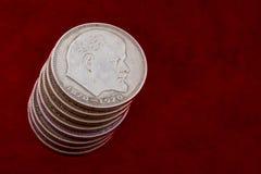 Lenin coins Royalty Free Stock Photo