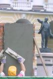 Lenin e trabalhador imagem de stock royalty free