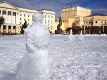 Lenin en sneeuwmannen Royalty-vrije Stock Afbeelding