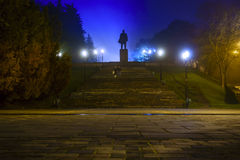 Lenin in fog Royalty Free Stock Image