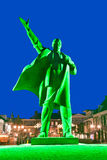 Lenin in Green Light Stock Photos