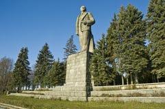 Lenin. Het monument in de stad Dubna. Rusland Stock Afbeeldingen