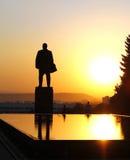 Lenin kwadrat. Lenin fontain łzy i pomnik Obraz Royalty Free