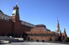 Lenin Maosoleum and wall of Kremlin Royalty Free Stock Photos