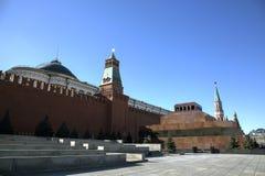 Lenin Maosoleum and wall of Kremlin Stock Photos