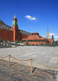 Lenin mausoleum and the Moscow Kremlin at the Red Square Royalty Free Stock Photography