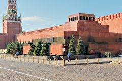 Lenin Mausoleum on Red Square near Kremlin Wall Royalty Free Stock Photography