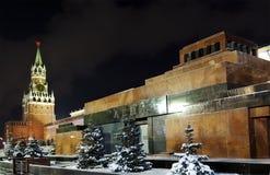 Lenin Mausoleum und Spassky Kontrollturm Stockfotos