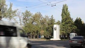 Lenin monument in Bishek stock footage