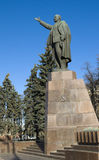 Lenin monument in the city of Ryazan Royalty Free Stock Photos