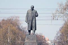 Lenin monument comunist leader Royalty Free Stock Photography