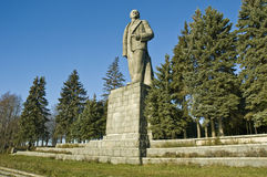 Lenin. The monument in the Dubna city. Russia Stock Images