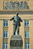 Lenin monument in front of Administration building, Orel, Russia Stock Photo
